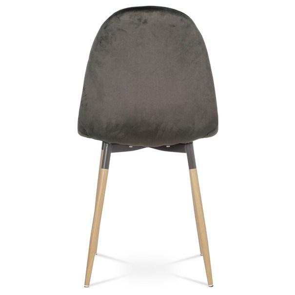 Jedálenská stolička COURTNEY sivá/buk 6