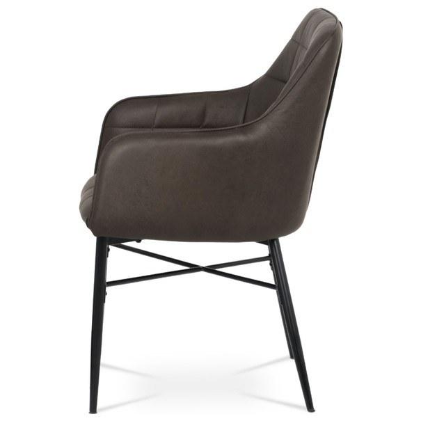 Jedálenská stolička DAMIRA hnedá 4