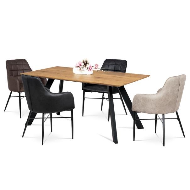 Jedálenská stolička DAMIRA hnedá 2