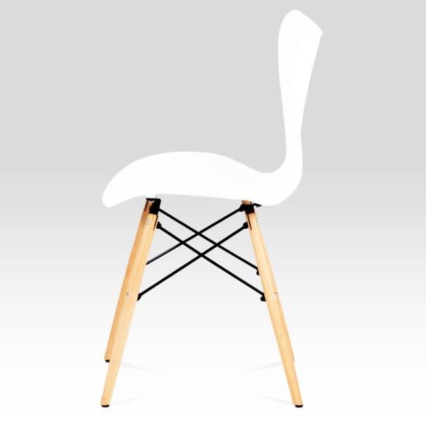 Jídelní židle DARINA bílá/buk 3