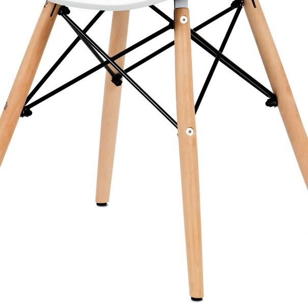 Jídelní židle DARINA bílá/buk 6