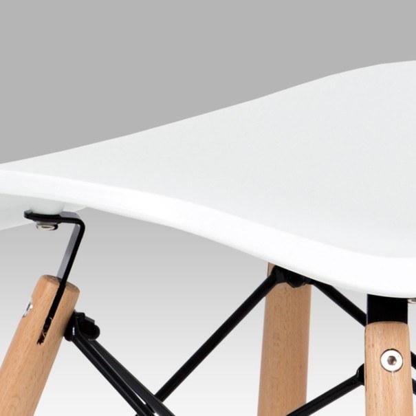 Jídelní židle DARINA bílá/buk 7