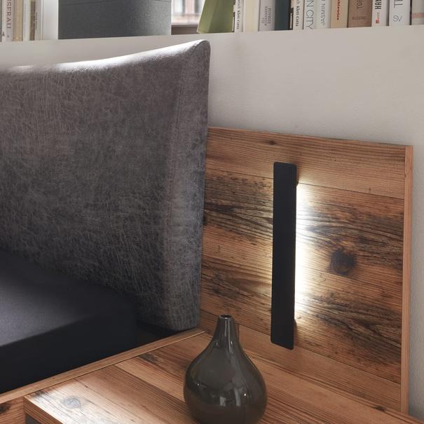 Postel s nočními stolky DENTON dub lodge/antracitová, 180x200 cm 11