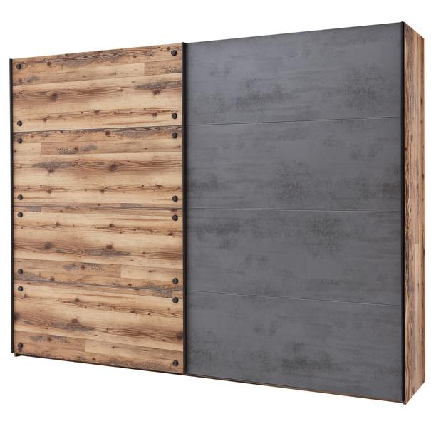 Šatní skříň DENTON dub lodge/antracitová 1