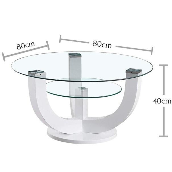 Konferenční stolek  DENVER bílá, vysoký lesk 3