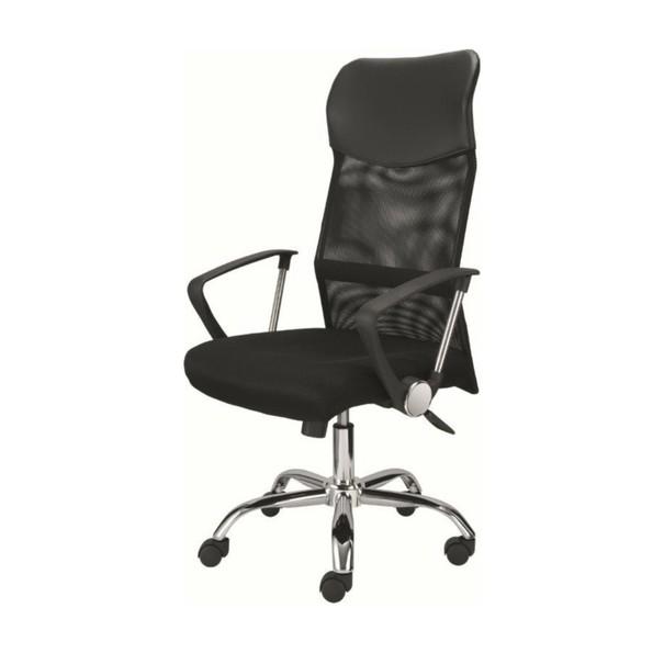 Otočná židle DIRECT černá/chrom 1