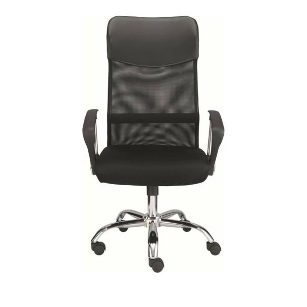 Otočná židle DIRECT černá/chrom 2