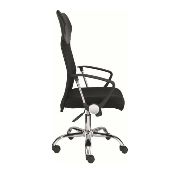 Otočná židle DIRECT černá/chrom 3