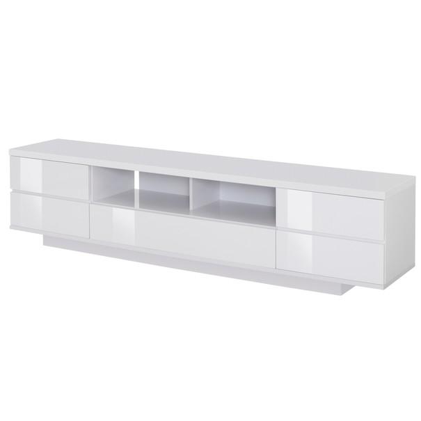Sconto TV stolík DORIAN ľadovo biela/vysoký lesk