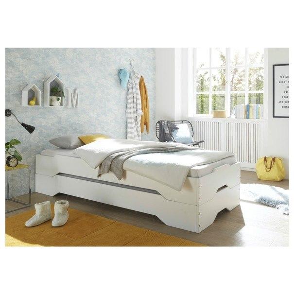 Postel DOUGLAS borovice bílá, 90x200 cm 5