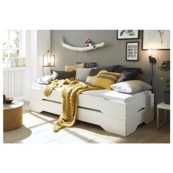 Postel DOUGLAS borovice bílá, 90x200 cm 6