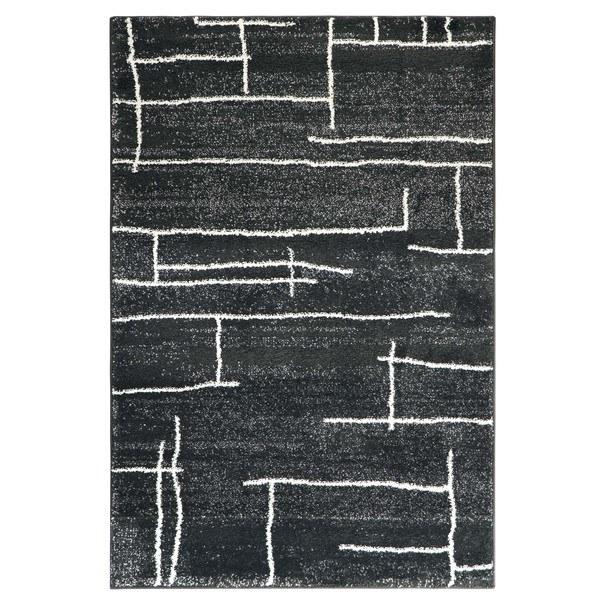 Sconto Koberec DOUX 1 černá, 133x190 cm - nábytek SCONTO nábytek.cz