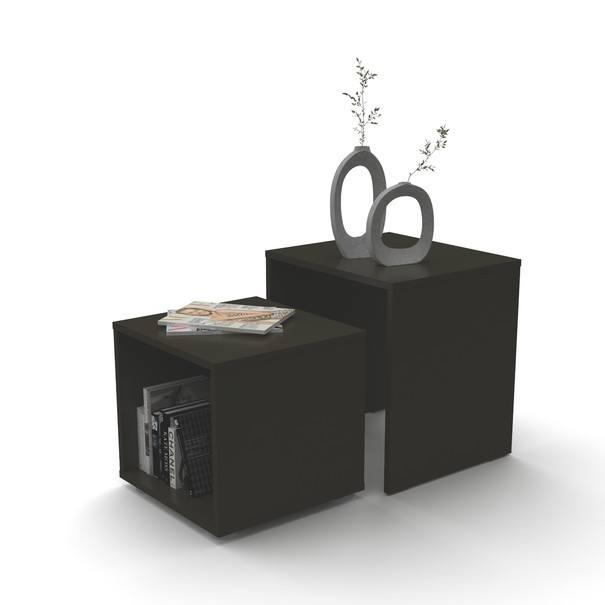 Přístavný stolek DUO černá, 2 ks 3