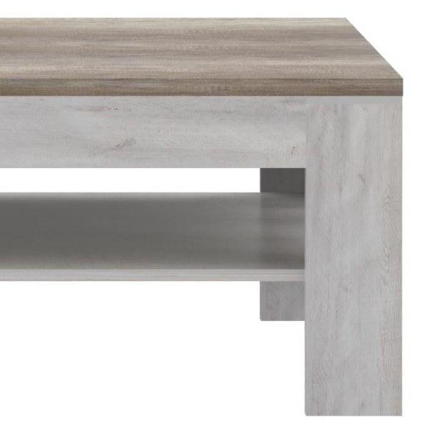 Konferenční stolek DURO pinie bílá/dub antik 3