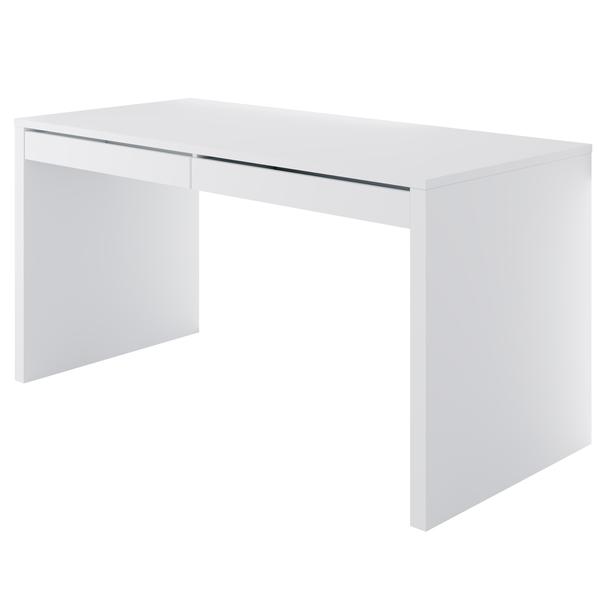 Sconto PC stôl DYLAN biela lesklá