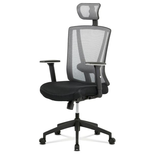 Sconto Kancelárska stolička EDWARD čierna/sivá.