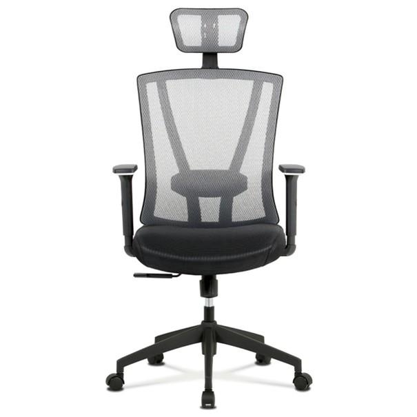 Kancelářská židle EDWARD černá/šedá 4