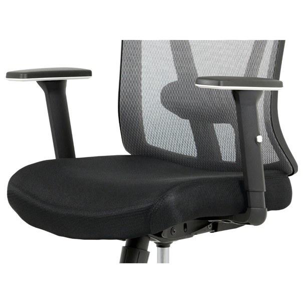 Kancelářská židle EDWARD černá/šedá 6