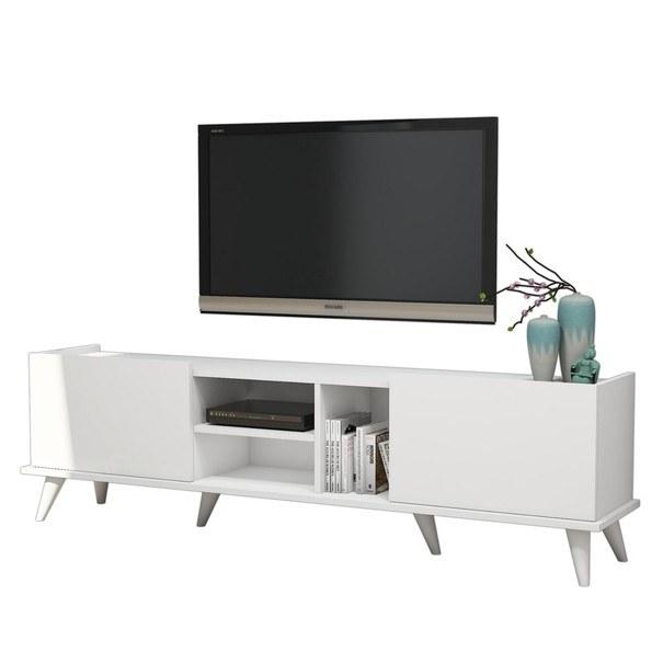 Sconto TV stolek ELEGANTE bílá - nábytek SCONTO nábytek.cz