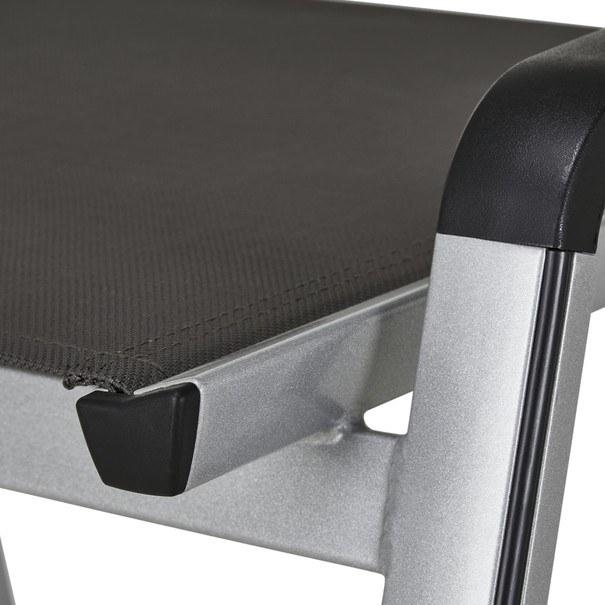 Zahradní stolička ELEMENTS stříbrná/antracit 5
