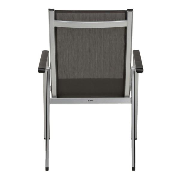 Zahradní židle ELEMENTS stříbrná/antracit 6