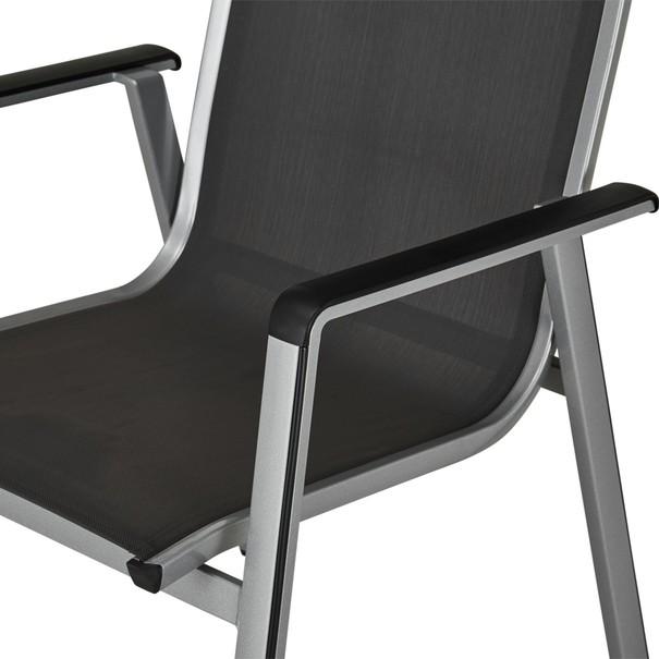 Zahradní židle ELEMENTS stříbrná/antracit 7