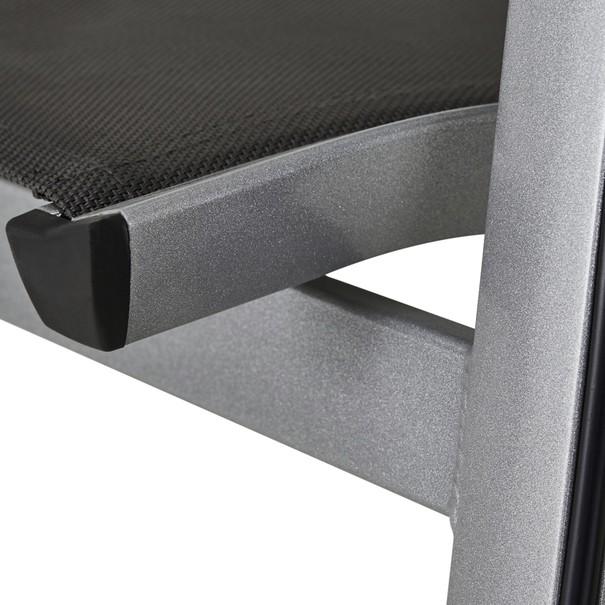 Zahradní židle ELEMENTS stříbrná/antracit 8