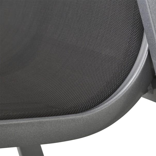Zahradní židle ELEMENTS stříbrná/antracit 10