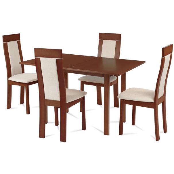 Jídelní židle ELENA třešeň/béžová 2