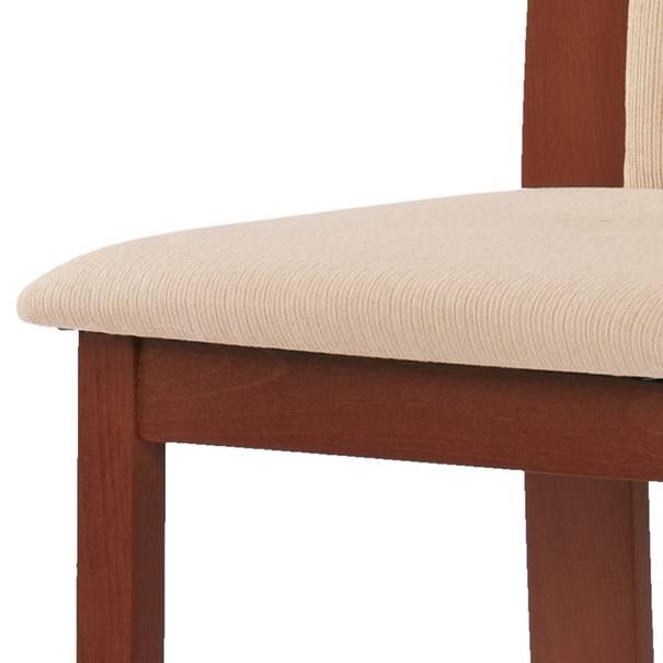 Jídelní židle ELENA třešeň/béžová 5