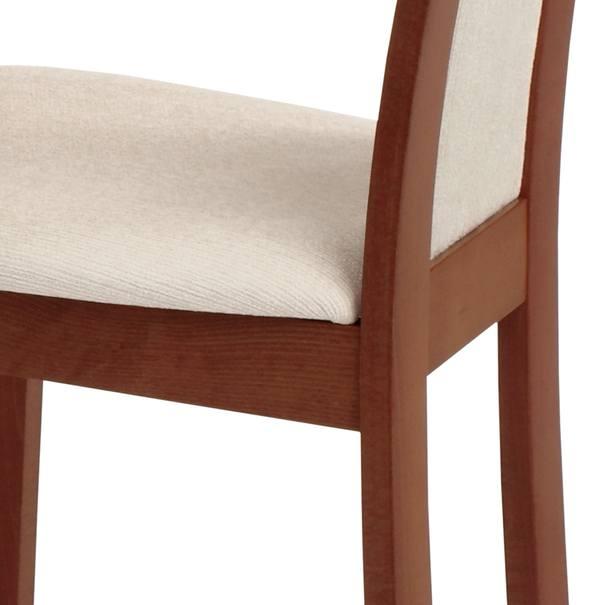 Jídelní židle ELENA třešeň/béžová 6
