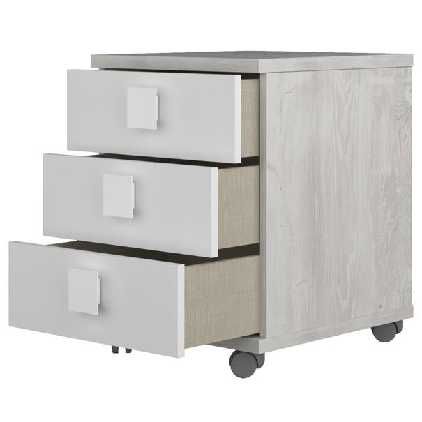 Noční stolek EMMET pinie cascina/bílá 3