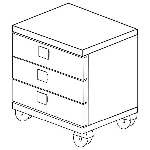 Noční stolek EMMET pinie cascina/bílá 5