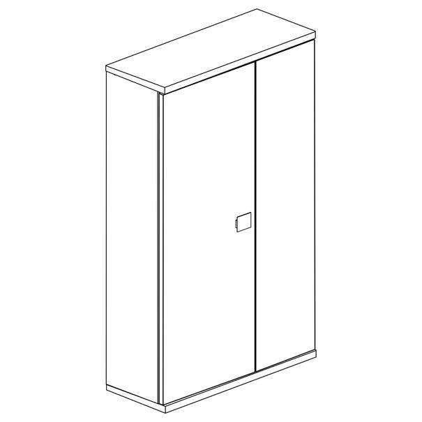 Šatní skříň EMMET pinie cascina/šedá 2