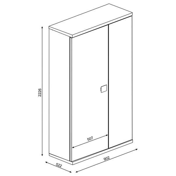 Šatní skříň EMMET pinie cascina/šedá 4