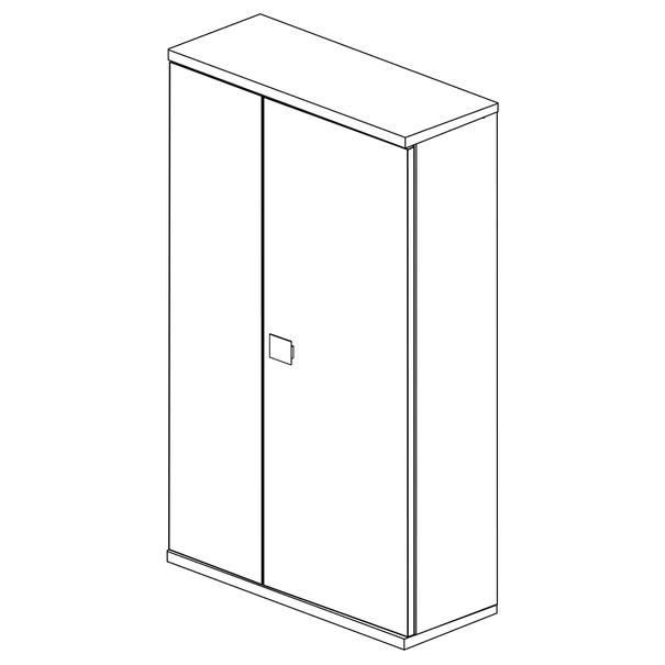 Šatní skříň EMMET pinie cascina/bílá 4