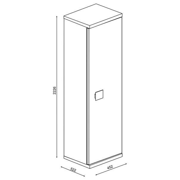 Šatní skříň EMMET pinie cascina 5