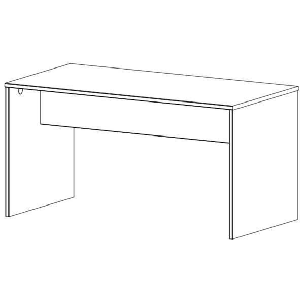 Psací stůl EMPOLI dub sanremo/grafit 3