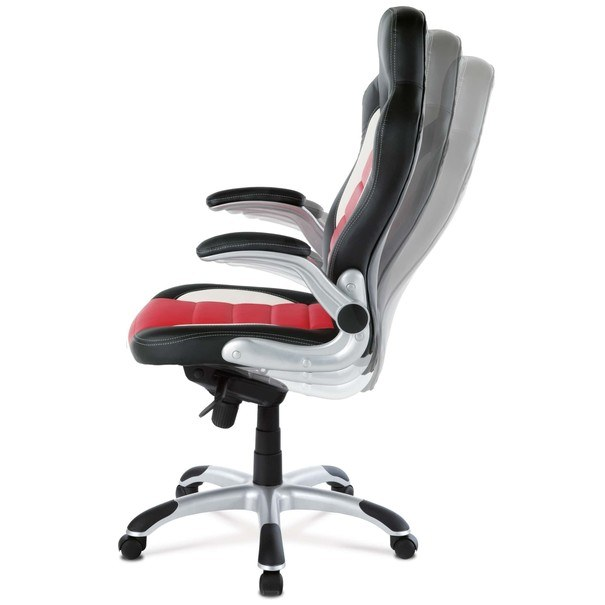 Kancelářská židle  ESTER červená/černá 9
