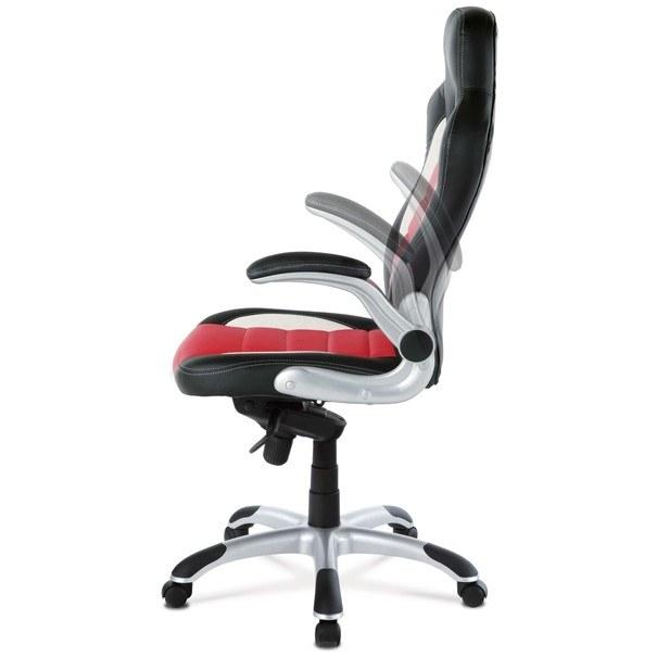 Kancelářská židle  ESTER červená/černá 10