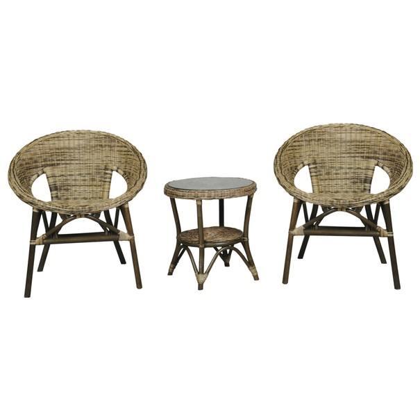 Ratanový stolek  FELICIA 02 ratan/sklo 3