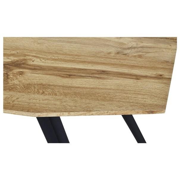 Jedálenský stôl FELIX dub/kov 3