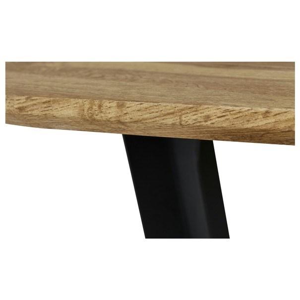 Jedálenský stôl FELIX dub/kov 5
