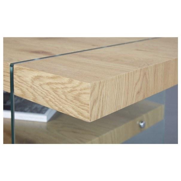 Konferenčný stolík FESTINA divoký dub/sklo 2