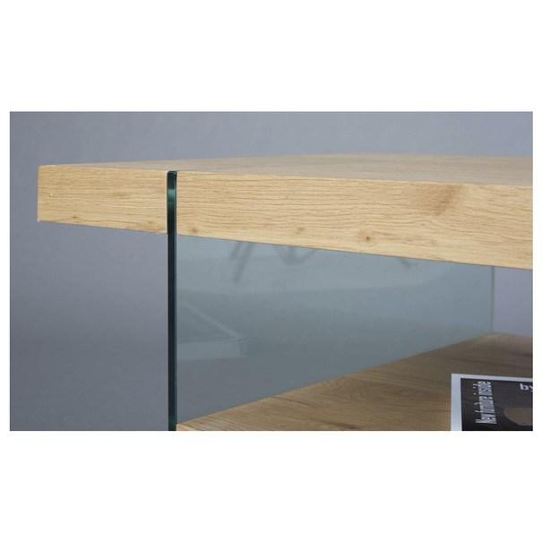 Konferenčný stolík FESTINA divoký dub/sklo 6