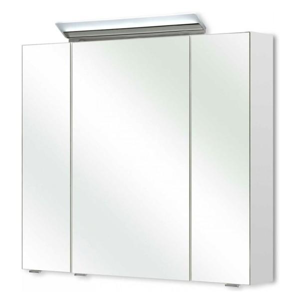 Zrcadlová skříňka s osvětlením FILO 040 bílá vysoký lesk 1