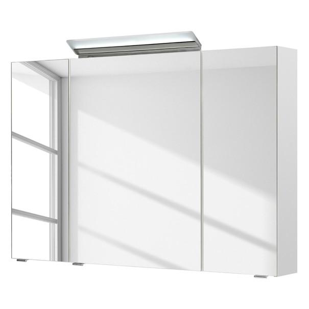 Sconto Zrcadlová skříňka s osvětlením FILO ORIA III bílá
