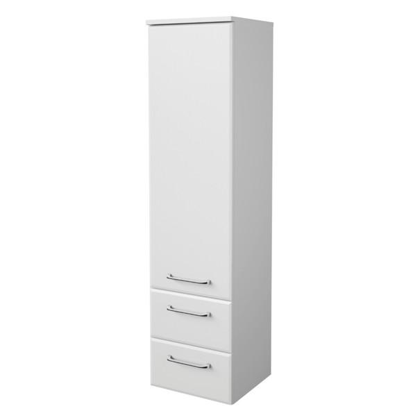 Polovysoká koupelnová skříňka FILO bílá vysoký lesk 1