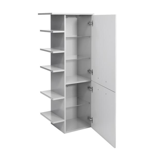 Polovysoká koupelnová skříňka FILO bílá vysoký lesk 2