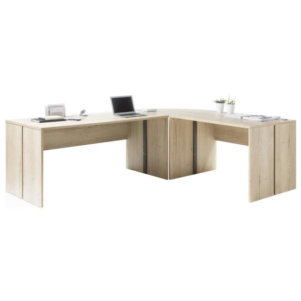 Psací stůl - rohová kombinace FJORD dub cleveland 1